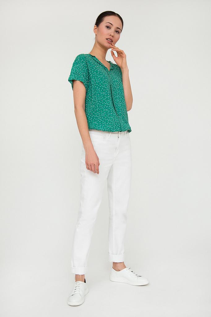 блузка женская Finn-Flare зеленого цвета