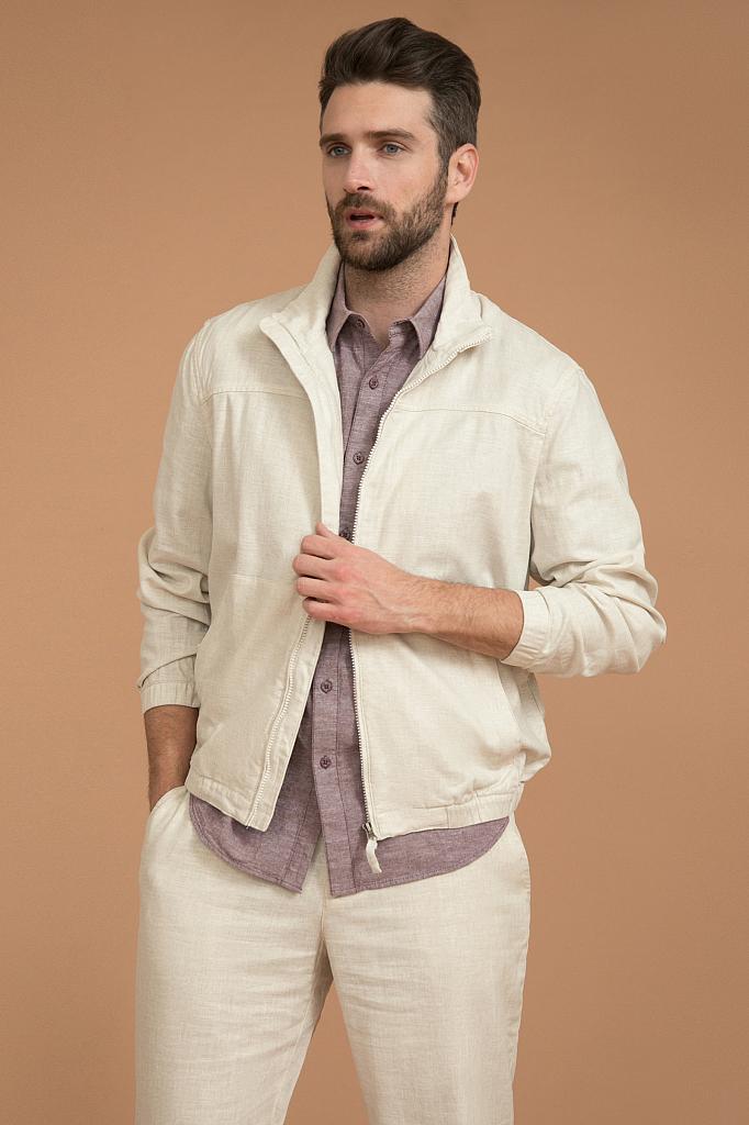 куртка мужская Finn-Flare светло-бежевого цвета