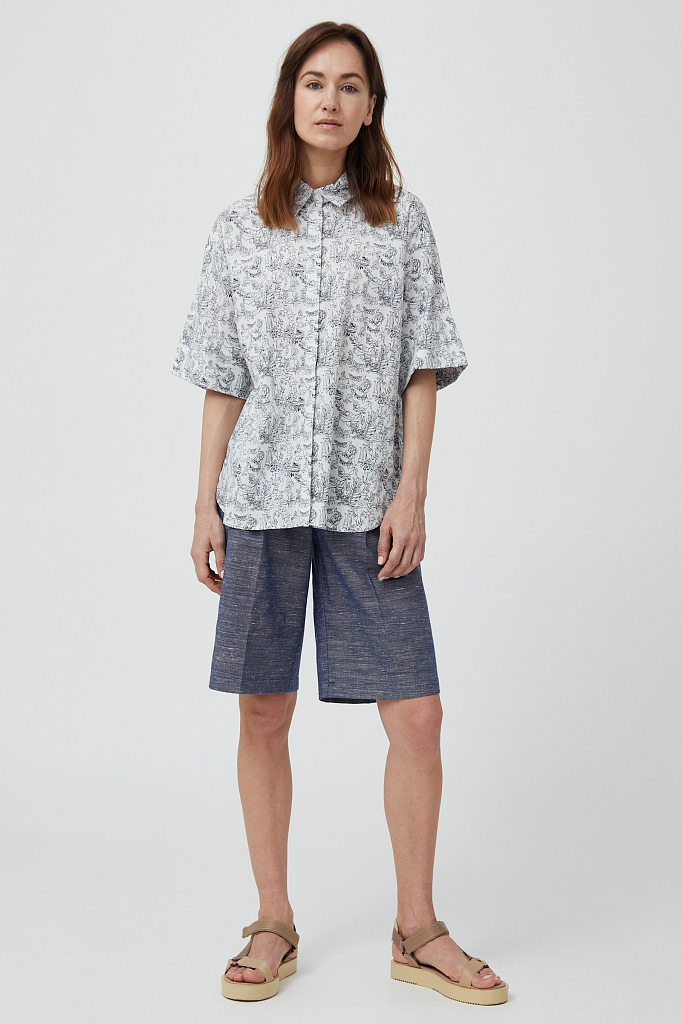шорты женские Finn-Flare темно-синего цвета