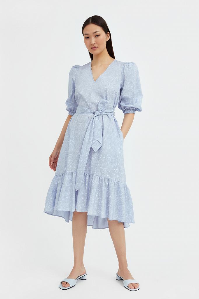 платье асимметричного кроя с принтом