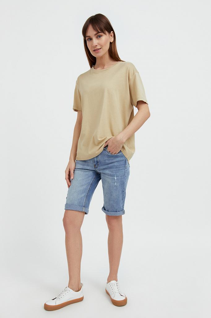 шорты джинсовые женские Finn-Flare синего цвета