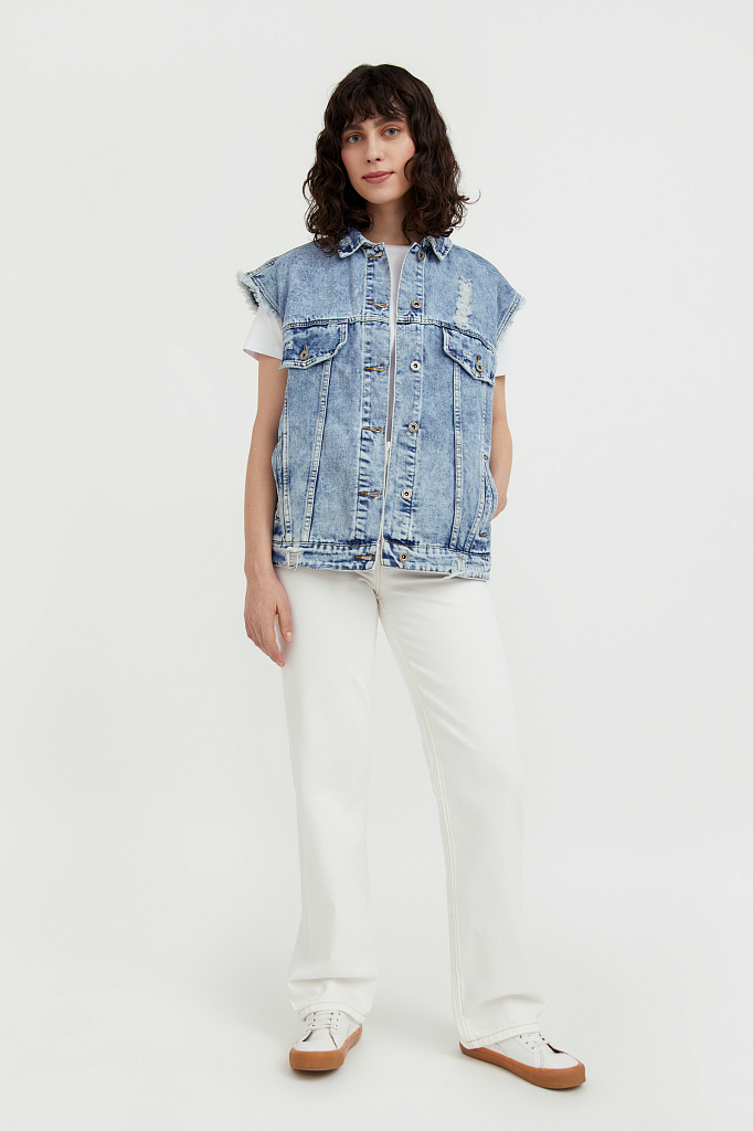 жилет джинсовый женский