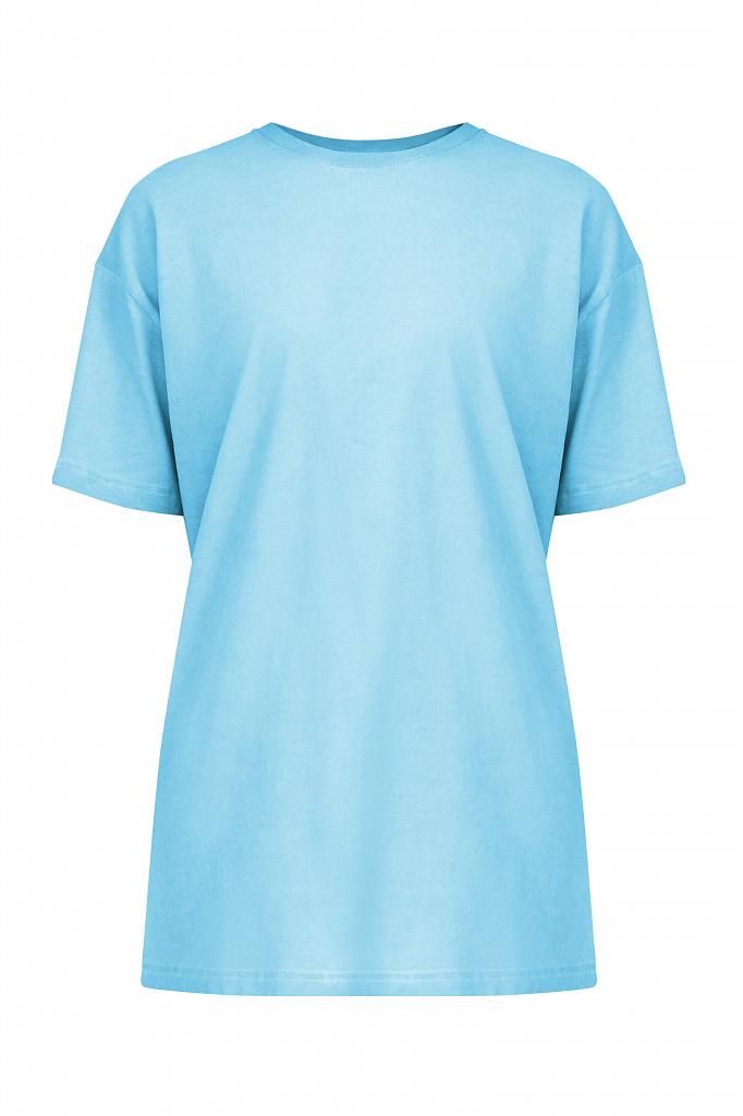 Фото 7 - футболка женская голубого цвета