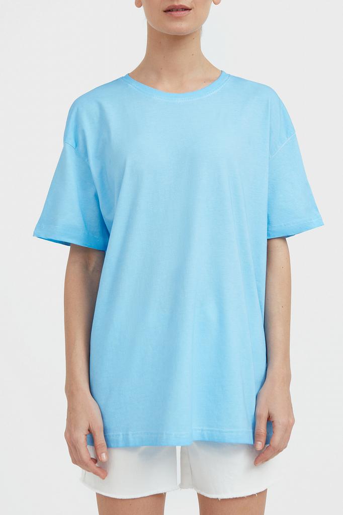 Фото - футболка женская голубого цвета