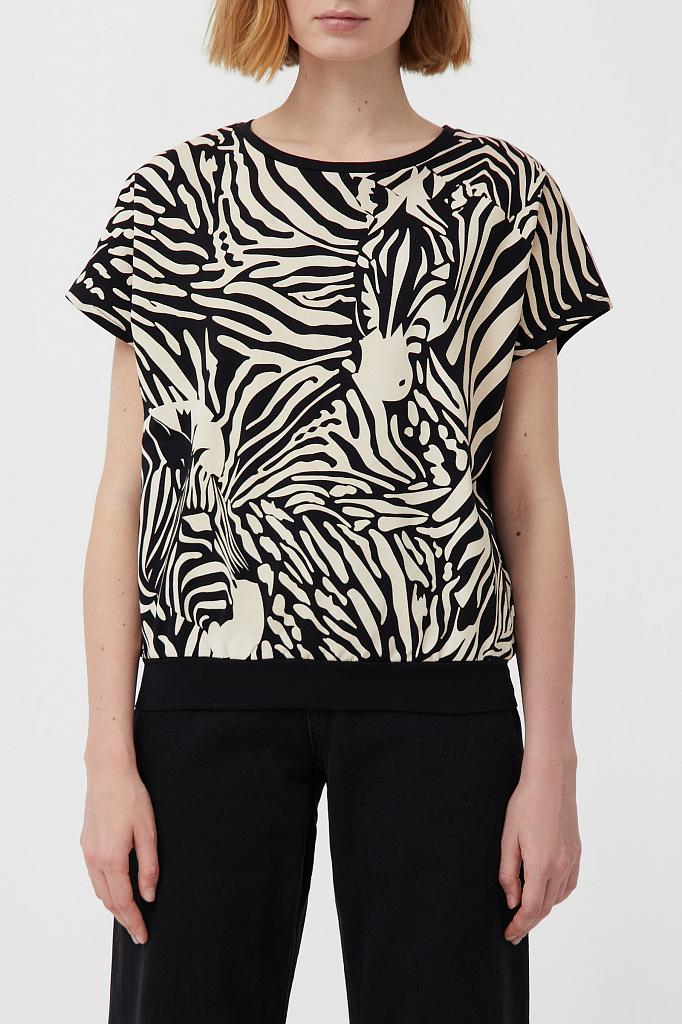 футболка женская Finn-Flare черного цвета