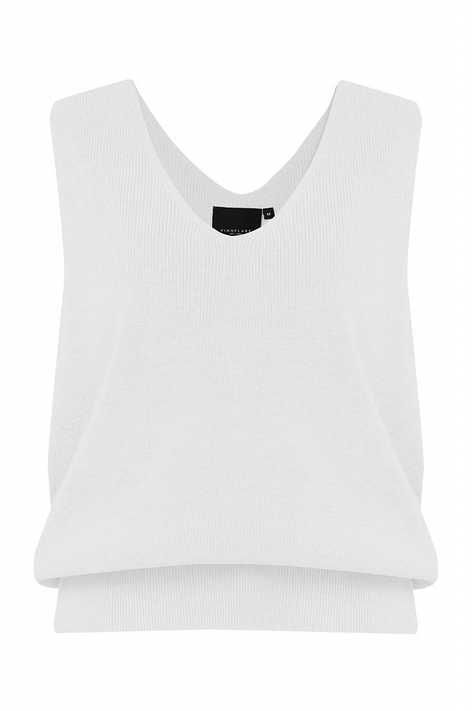Фото 7 - жилет женский белого цвета