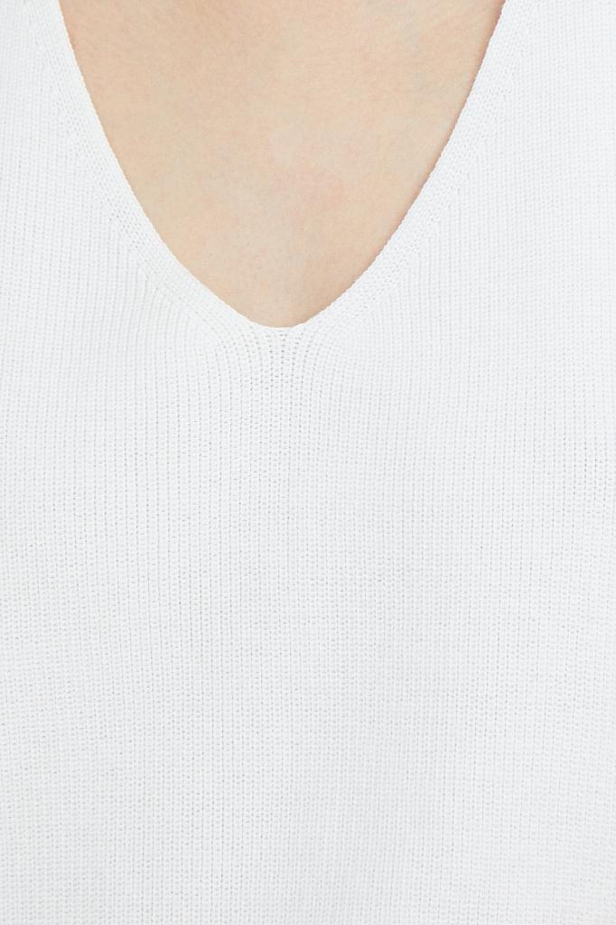 Фото 5 - жилет женский белого цвета