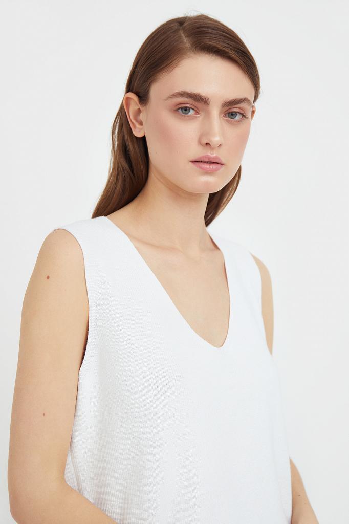 Фото 6 - жилет женский белого цвета