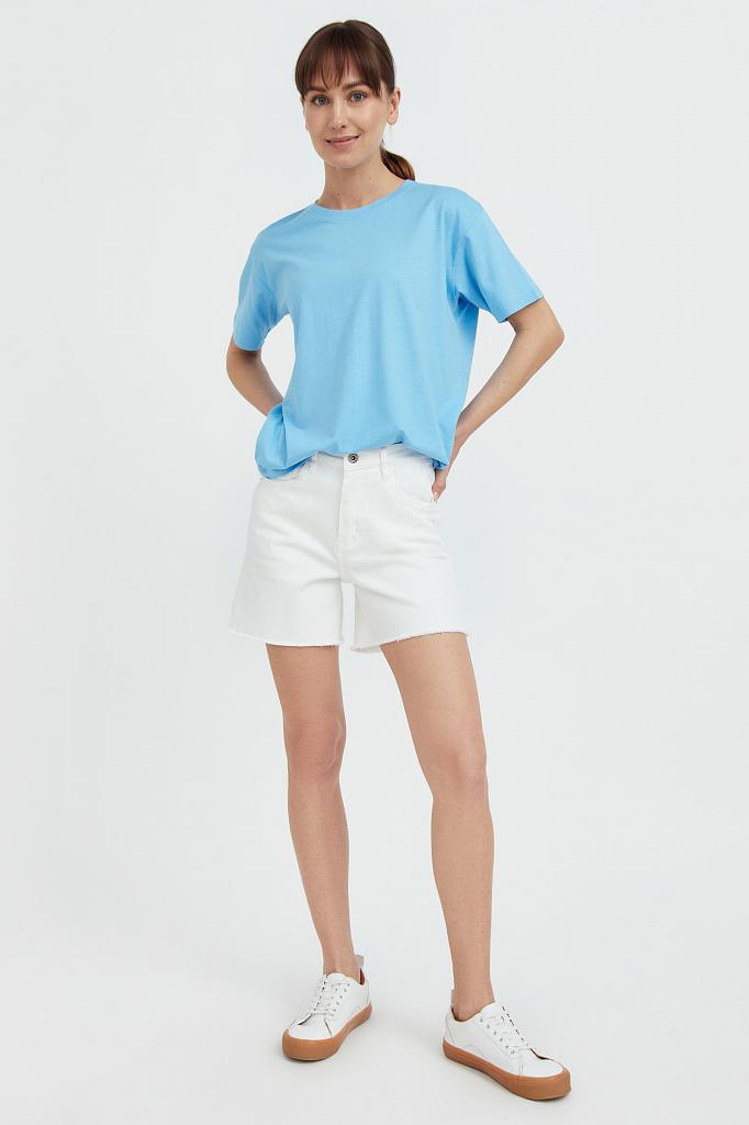 шорты женские Finn-Flare белого цвета