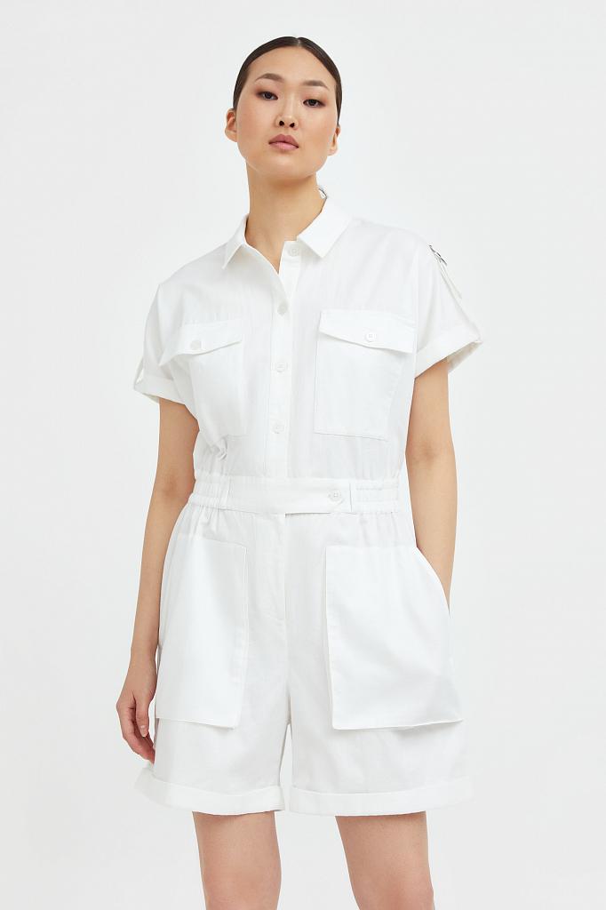 комбинезон женский Finn-Flare белого цвета