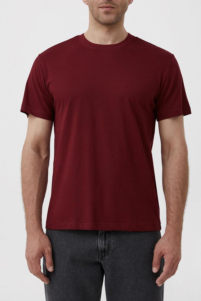 футболка мужская Finn-Flare бордового цвета