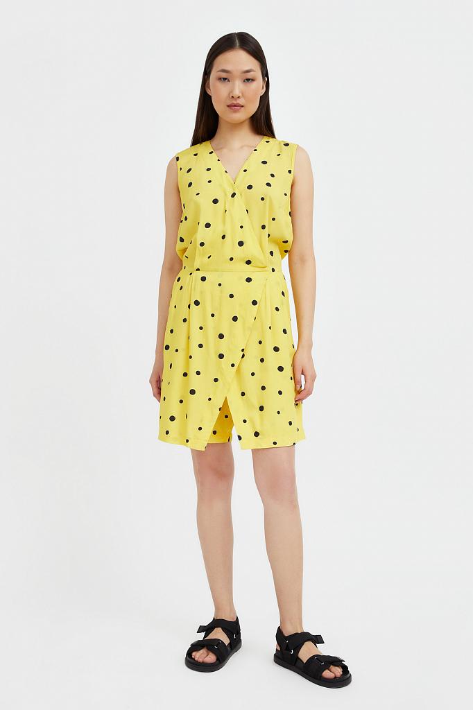 комбинезон женский Finn-Flare желтого цвета