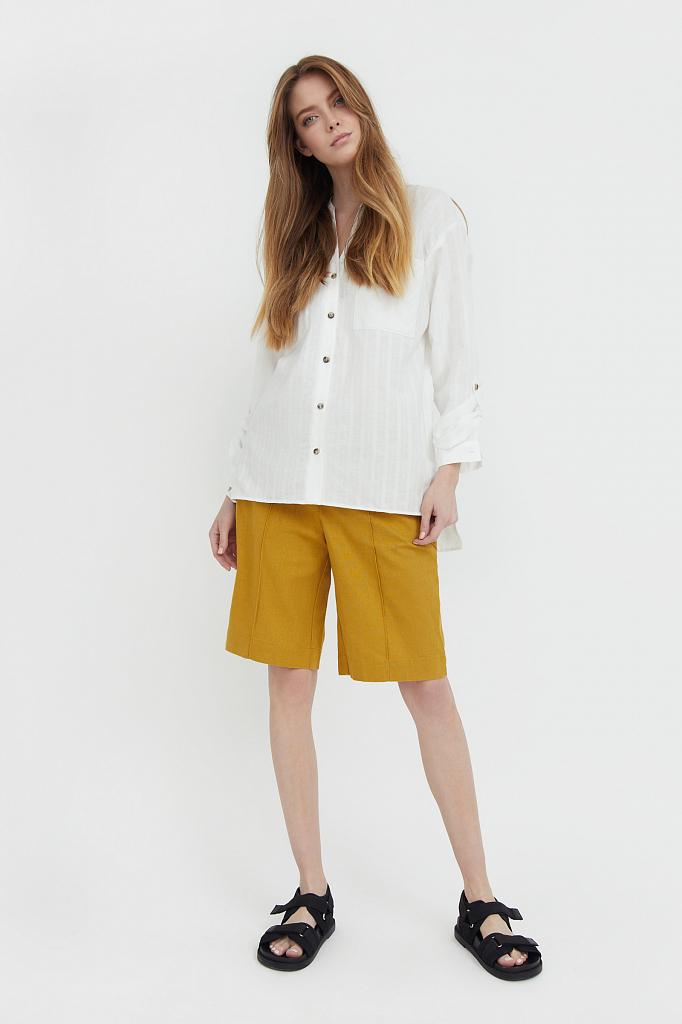 шорты женские Finn-Flare горчичного цвета