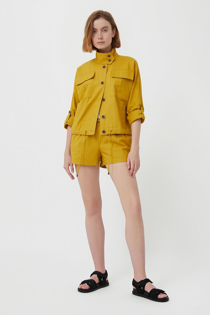 шорты женские Finn-Flare светло-зеленого цвета