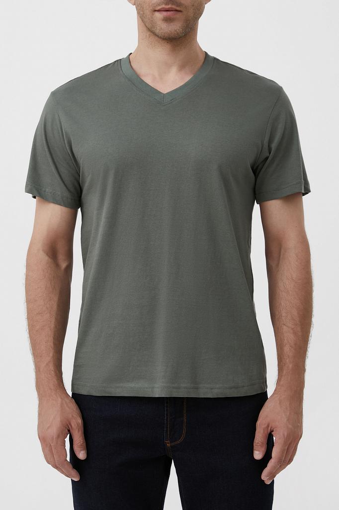 футболка мужская Finn-Flare темно-зеленого цвета