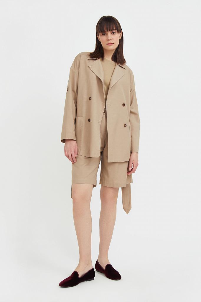 шорты женские Finn-Flare бежевого цвета