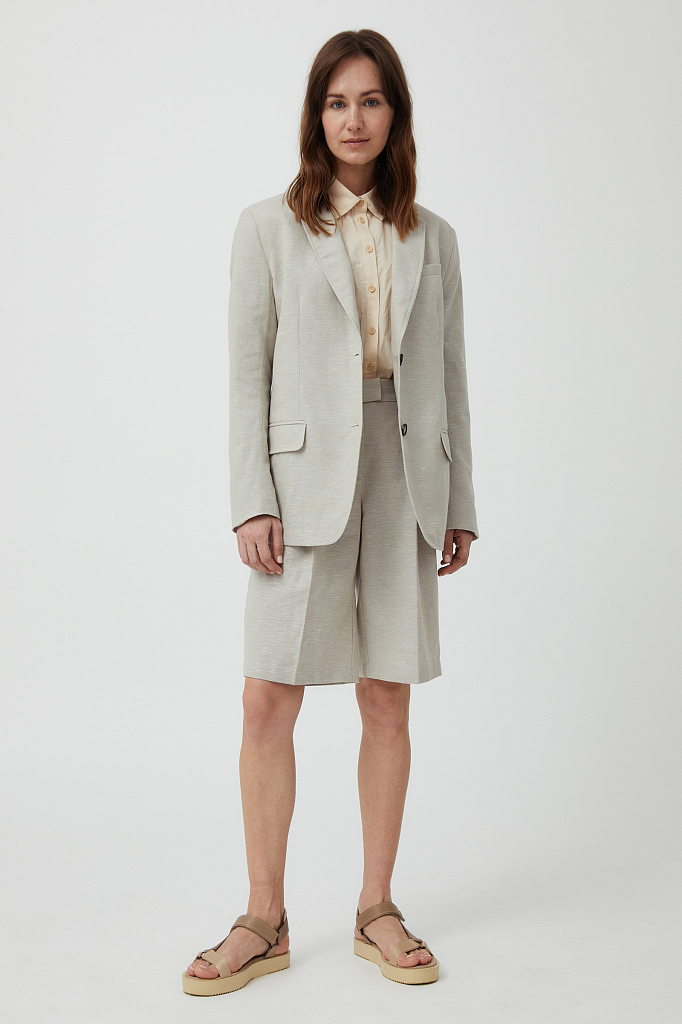 шорты женские Finn-Flare светло-бежевого цвета