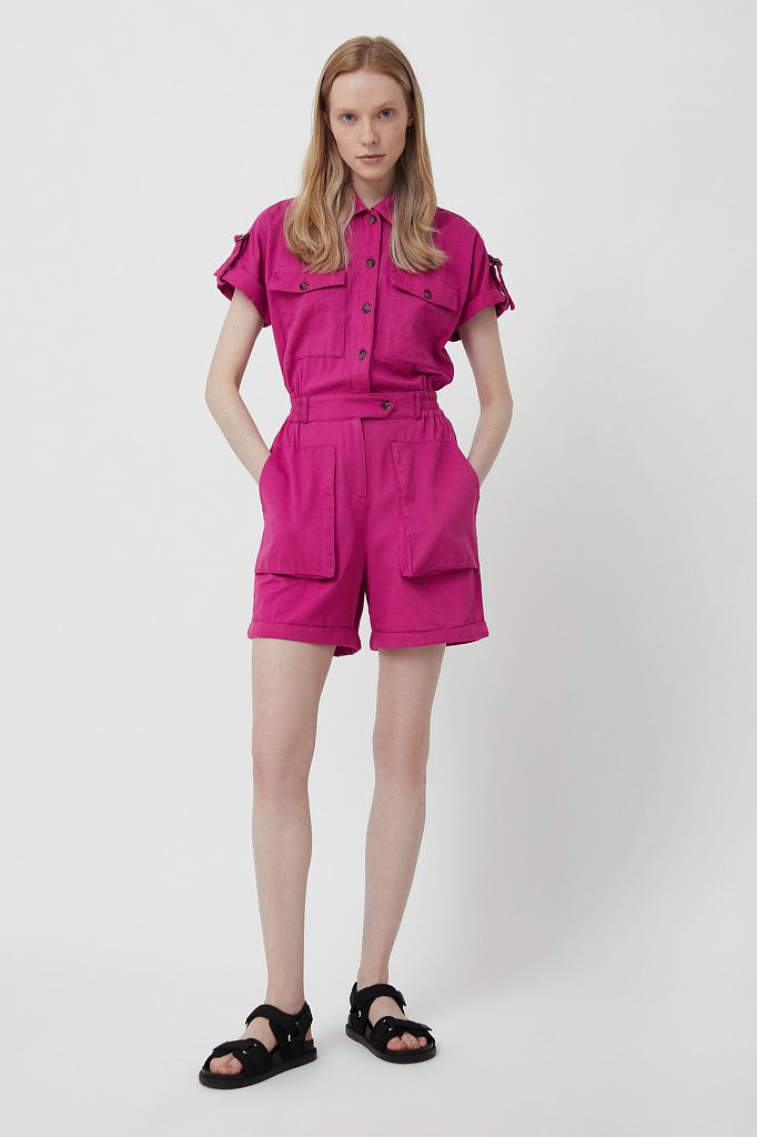 комбинезон женский Finn-Flare цвет пурпурный