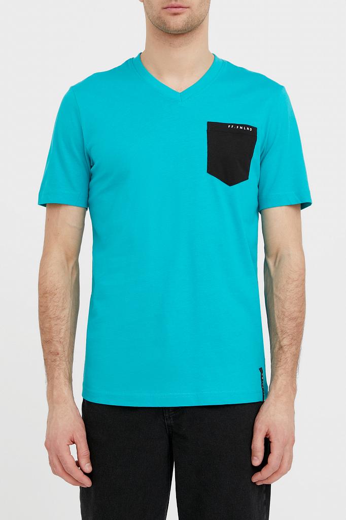 футболка мужская Finn-Flare набивной светло-зеленого цвета