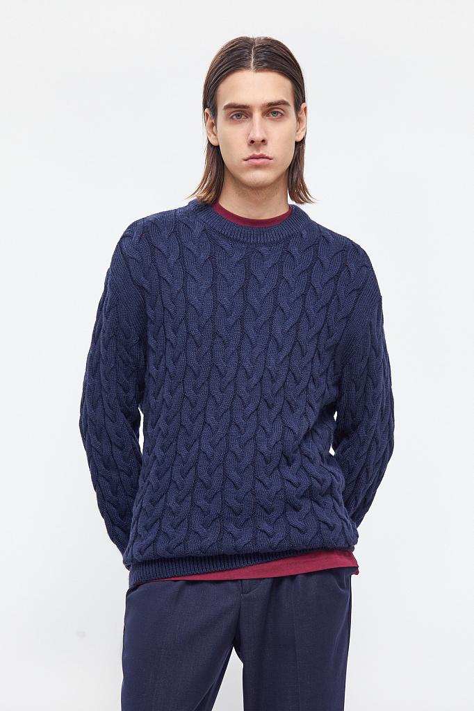 джемпер мужской Finn-Flare темно-синего цвета