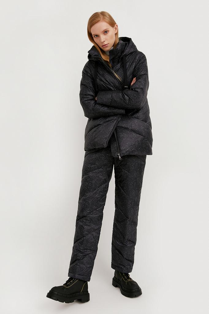 брюки женские Finn-Flare черного цвета