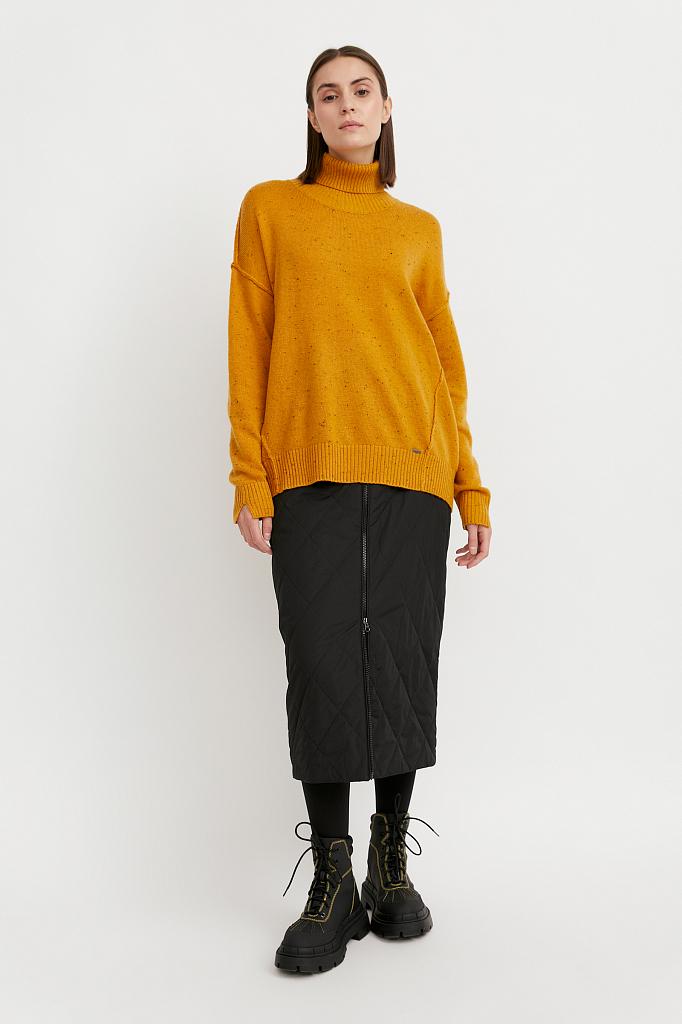 юбка женская с утеплителем с резинкой на поясе