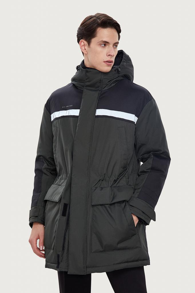 пальто мужское Finn-Flare темно-зеленого цвета