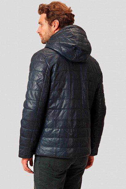 Кожаная куртка мужская, Модель A18-21801, Фото №4