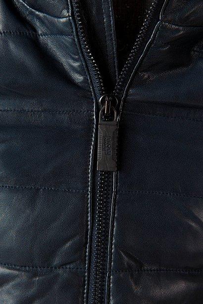 Кожаная куртка мужская, Модель A18-21801, Фото №5