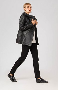 Кожаная куртка женская, Модель A18-11801, Фото №2