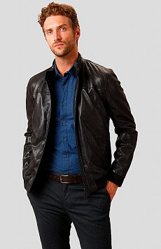 Кожаная куртка мужская A18-21800