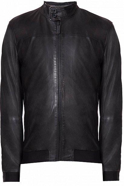 Кожаная куртка мужская, Модель A18-21800, Фото №8