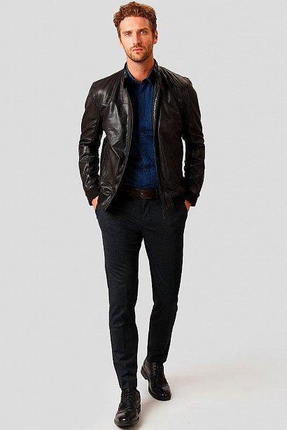 Кожаная куртка мужская, Модель A18-21800, Фото №2
