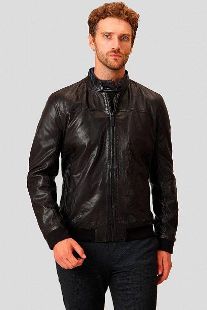 Кожаная куртка мужская, Модель A18-21800, Фото №3