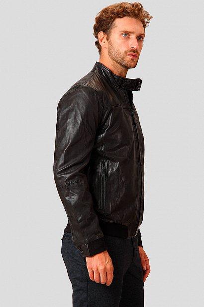 Кожаная куртка мужская, Модель A18-21800, Фото №4