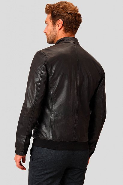 Кожаная куртка мужская, Модель A18-21800, Фото №5
