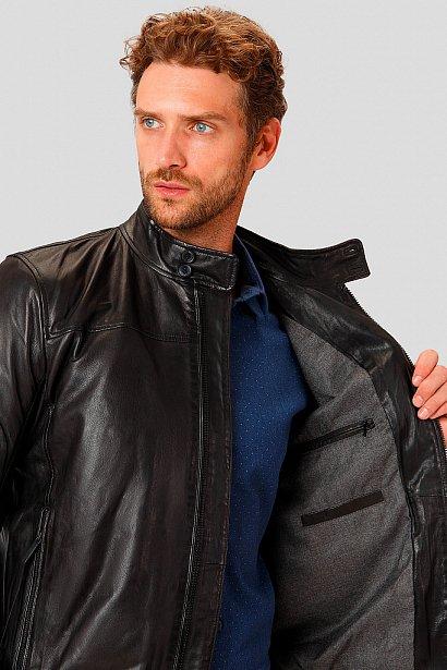 Кожаная куртка мужская, Модель A18-21800, Фото №6