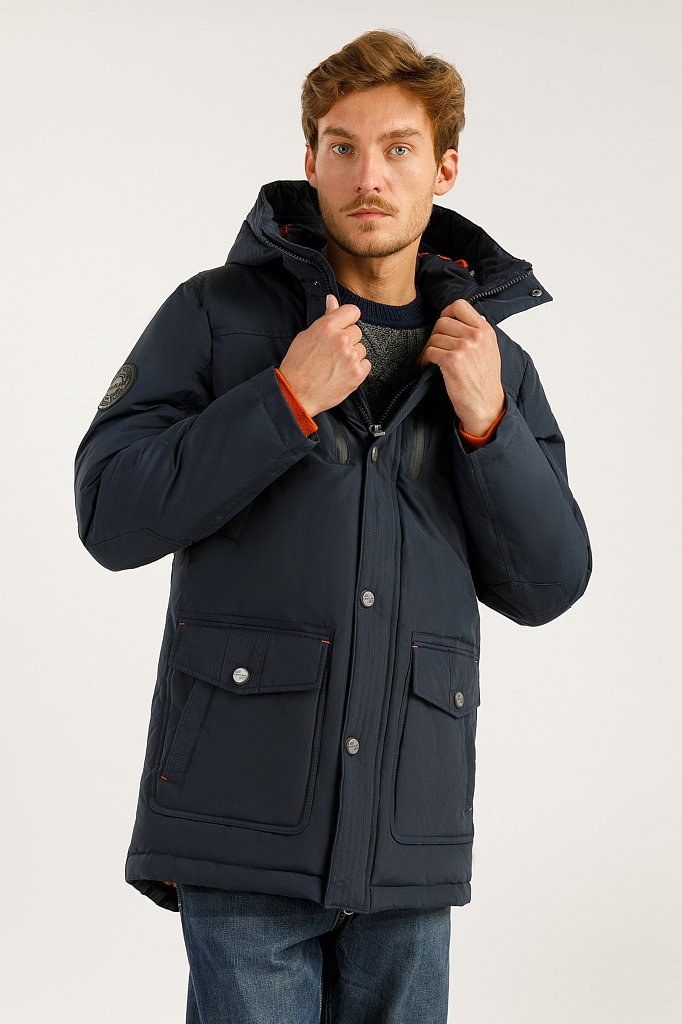 Пальто мужское, Модель A19-22007F, Фото №1