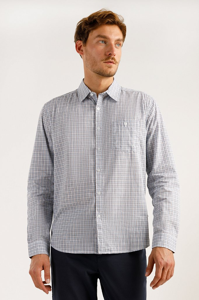 Рубашка мужская, Модель A19-21025, Фото №1