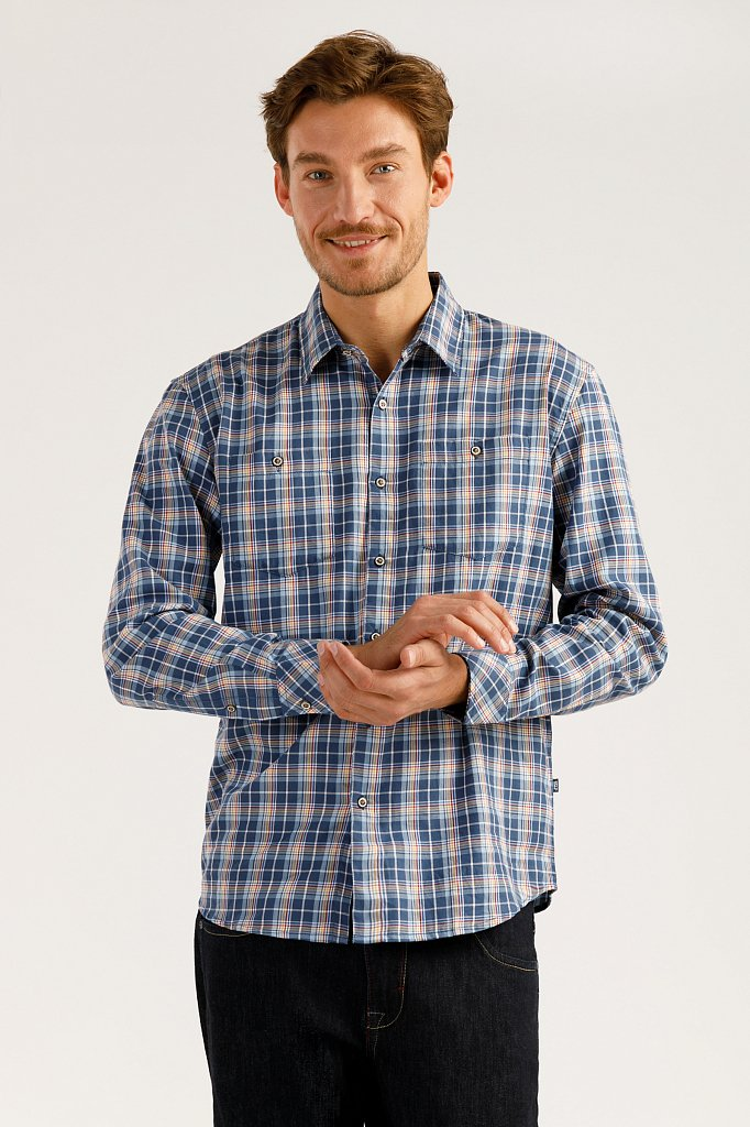 Верхняя сорочка мужская, Модель A19-22026, Фото №1