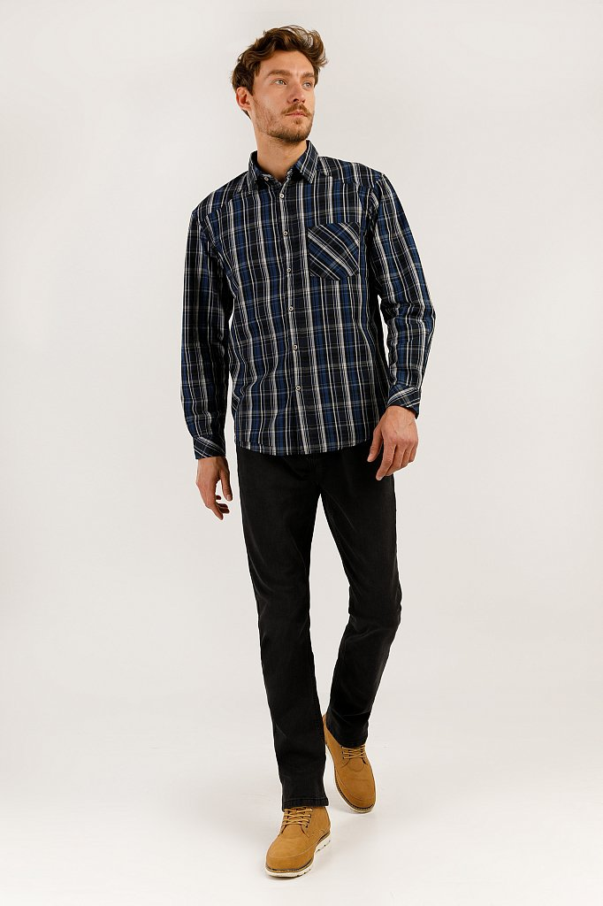 Верхняя сорочка мужская, Модель A19-22037, Фото №2