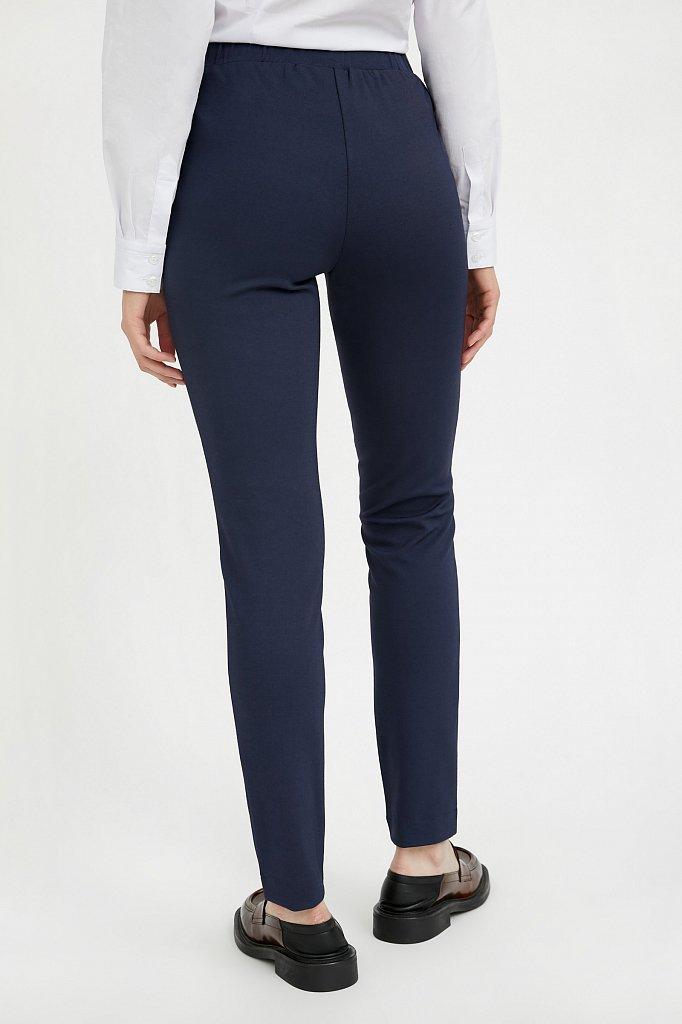 Базовые зауженные женские брюки на средней посадке, Модель A20-11045, Фото №4