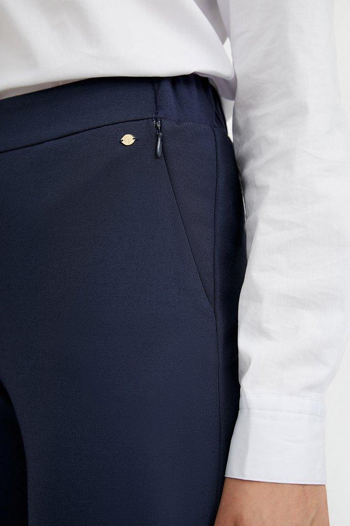 Базовые зауженные женские брюки на средней посадке, Модель A20-11045, Фото №5
