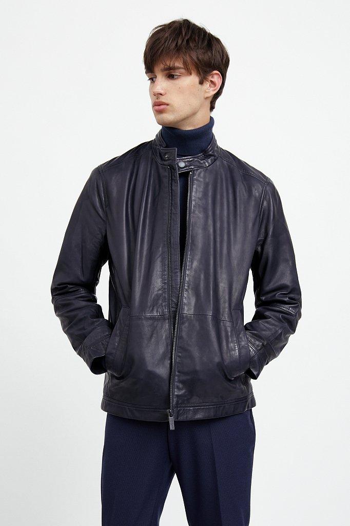 Куртка кожаная мужская, Модель A20-21800, Фото №1