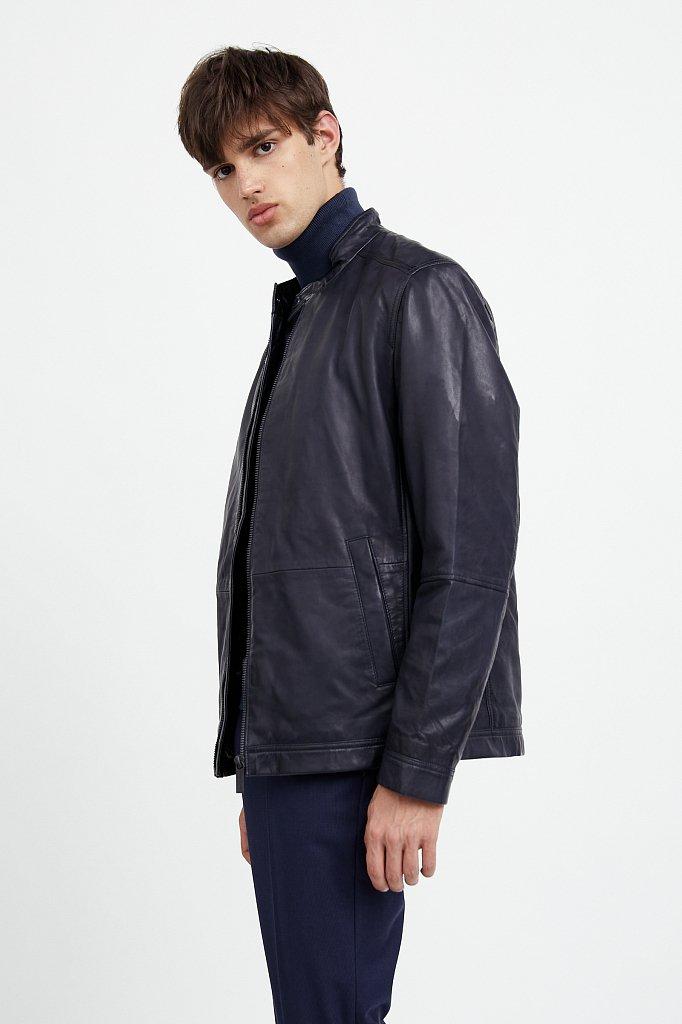 Куртка кожаная мужская, Модель A20-21800, Фото №3