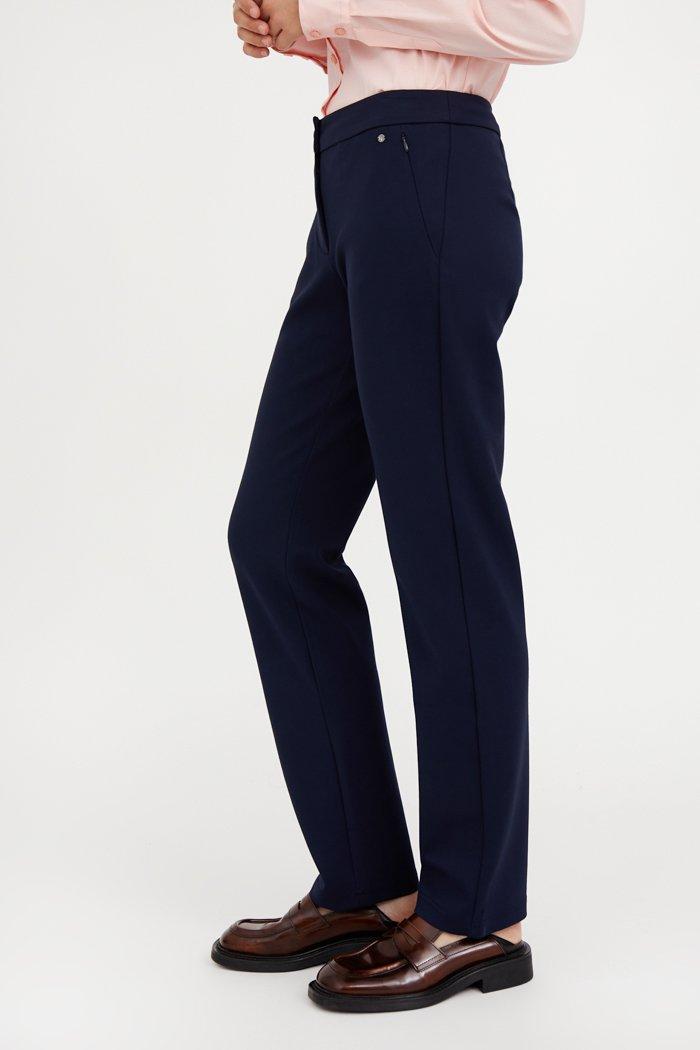 Классические женские брюки прямого кроя с вискозой, Модель A20-32047, Фото №3
