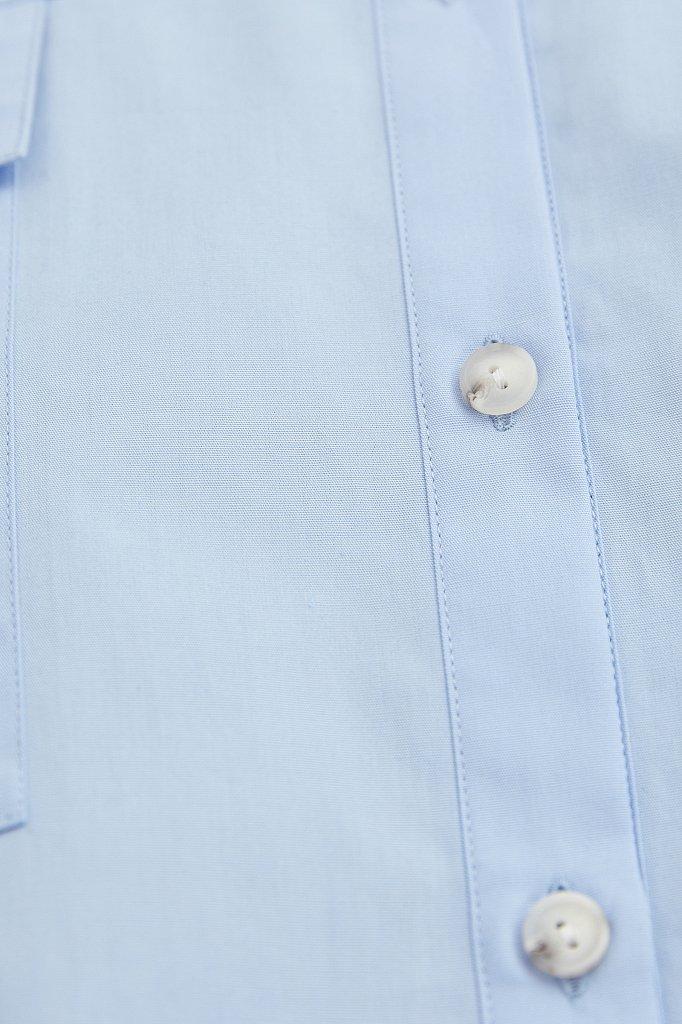 Классическая женская блузка оверсайз из хлопка, Модель A20-11095, Фото №6