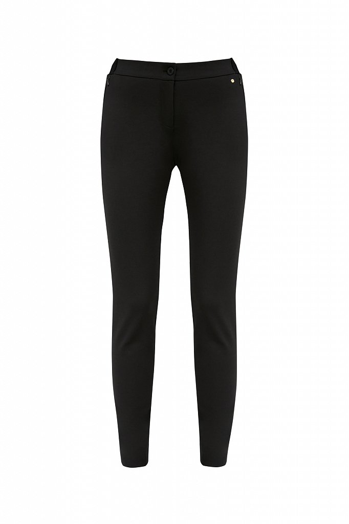 Базовые зауженные женские брюки на средней посадке, Модель A20-11045, Фото №6