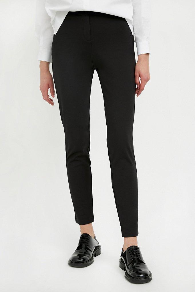 Базовые зауженные женские брюки на средней посадке, Модель A20-11045, Фото №2