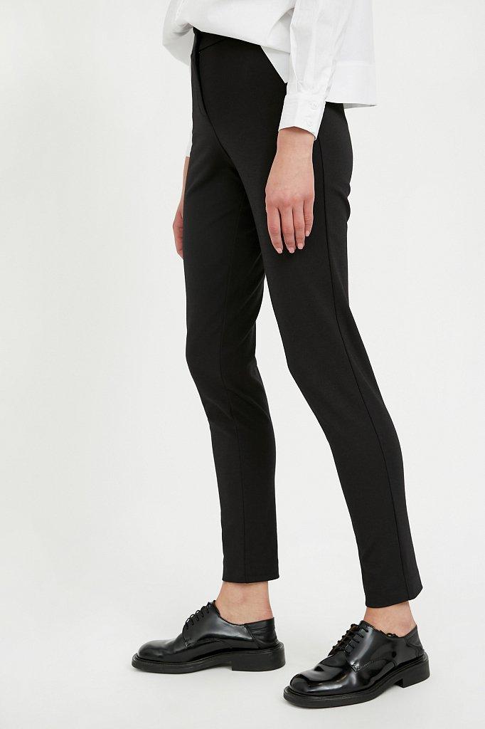 Базовые зауженные женские брюки на средней посадке, Модель A20-11045, Фото №3